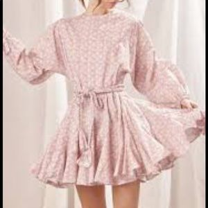 STORIA NWT Spin Me Around Floral Dress Small Pink